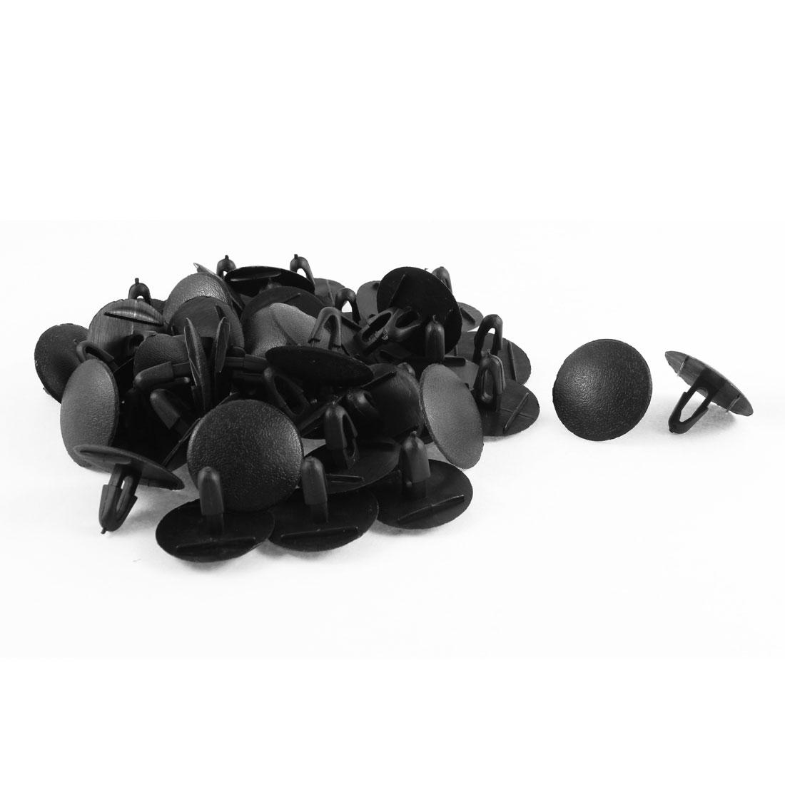 50 Pcs Black Plastic Push in Type Fastener Rivets Fender Clips 9mm Hole for Toyota