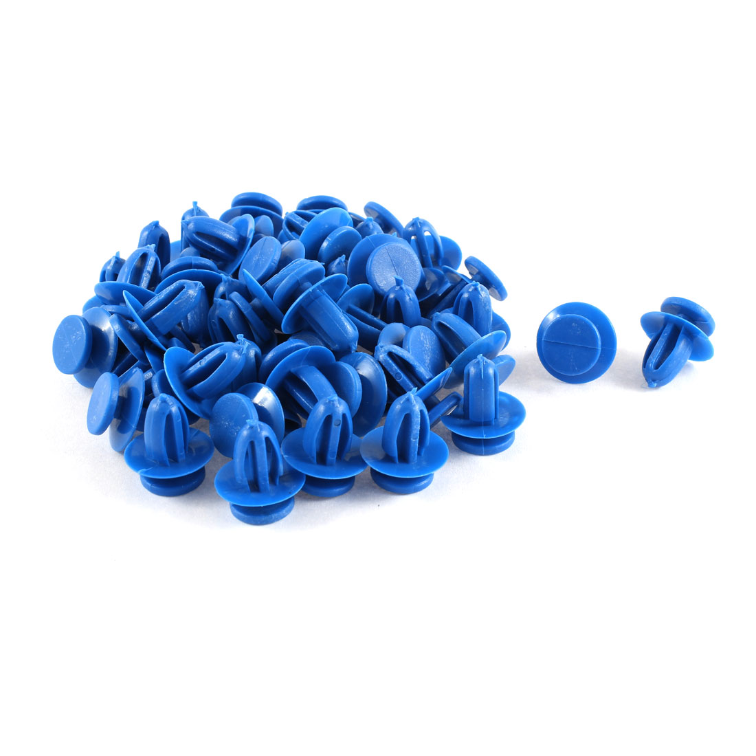 50 Pcs Blue Plastic Push in Fasteners Rivets Fender Clips 9mm Hole for Toyota