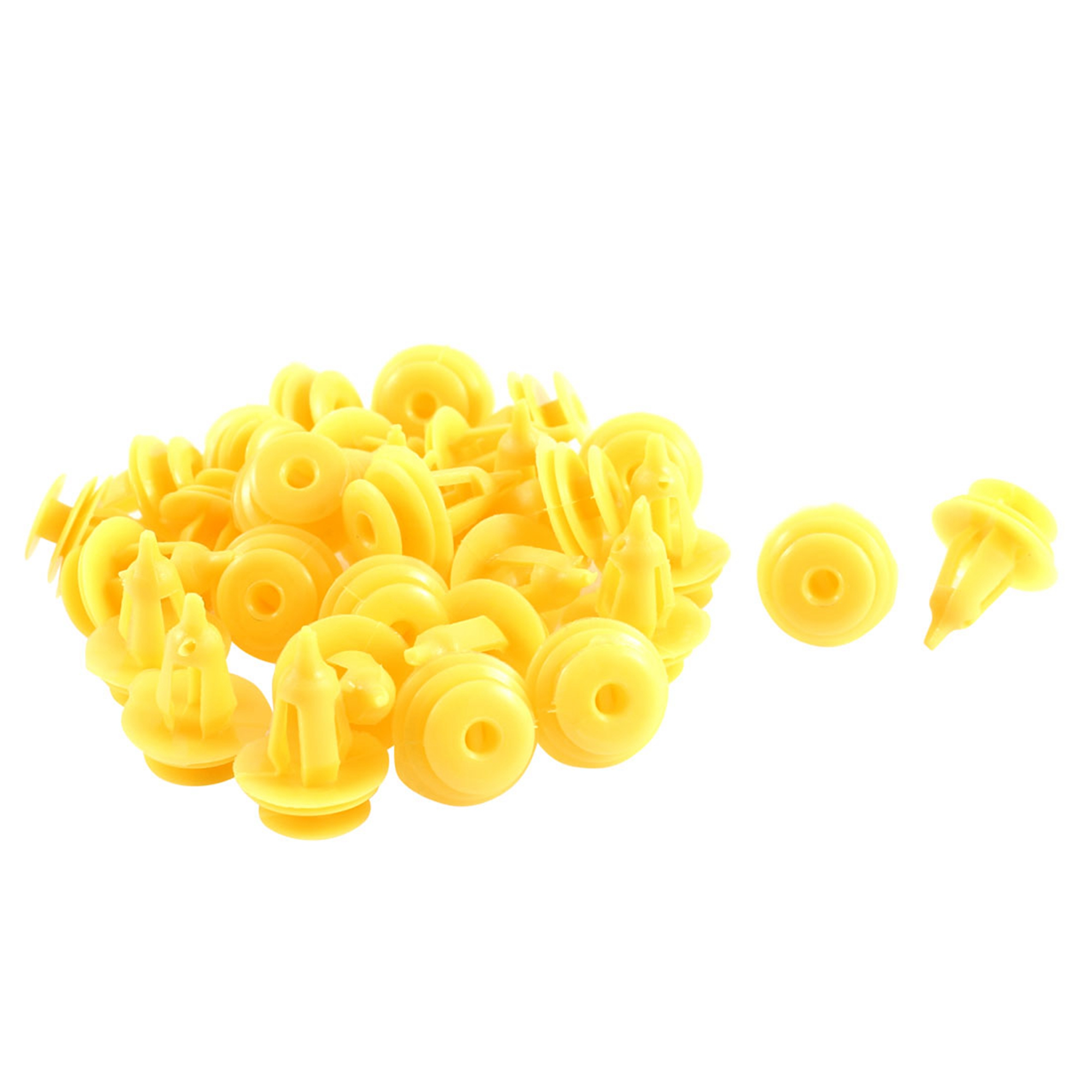 30 Pcs Yellow Plastic Push in Car Bumper Fender Door Rivets Retainer Clip 9mm Hole for Toyota