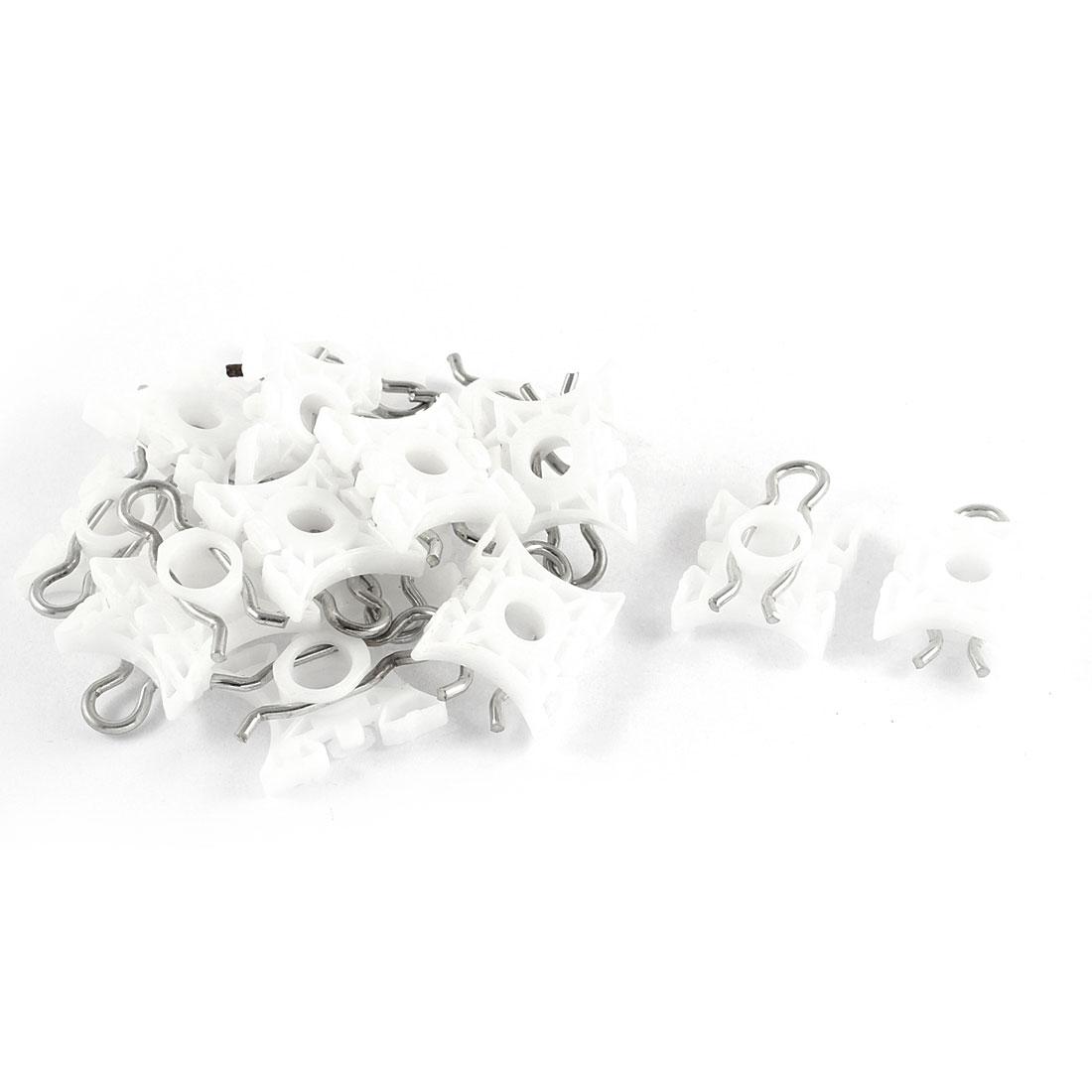 15 Pcs White 8.5mm Hole Window Fender Plastic Clips Rivet Fasteners for Volvo