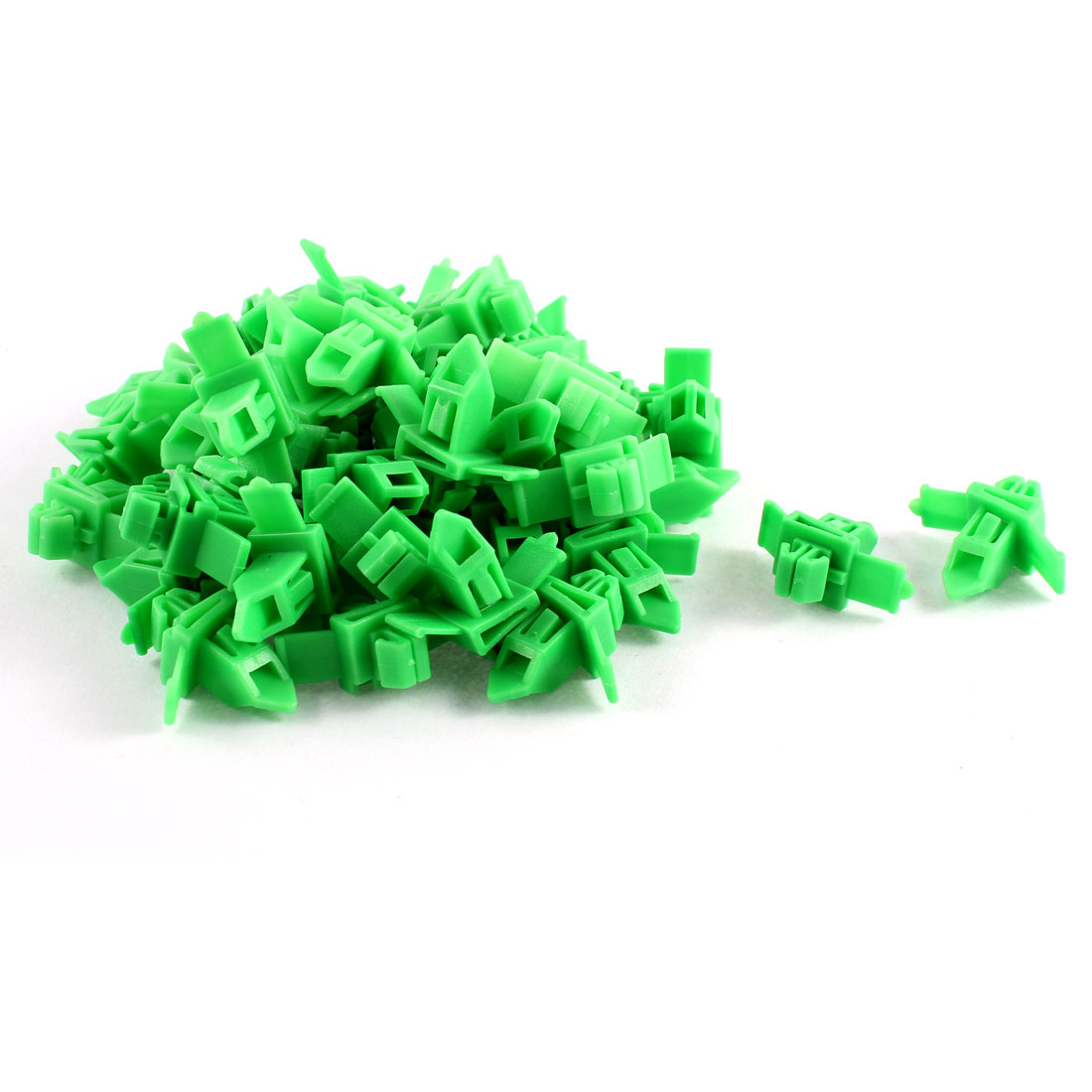 50 Pcs Green Plastic Rivets Fastener Fender Retainer 9.5mm x 7mm Fit Hole for Toyota