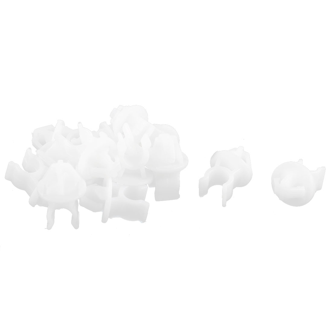 15pcs White Plastic Car Hood Prop Rod Clip Fasteners 14mm x 11mm Hole for Honda