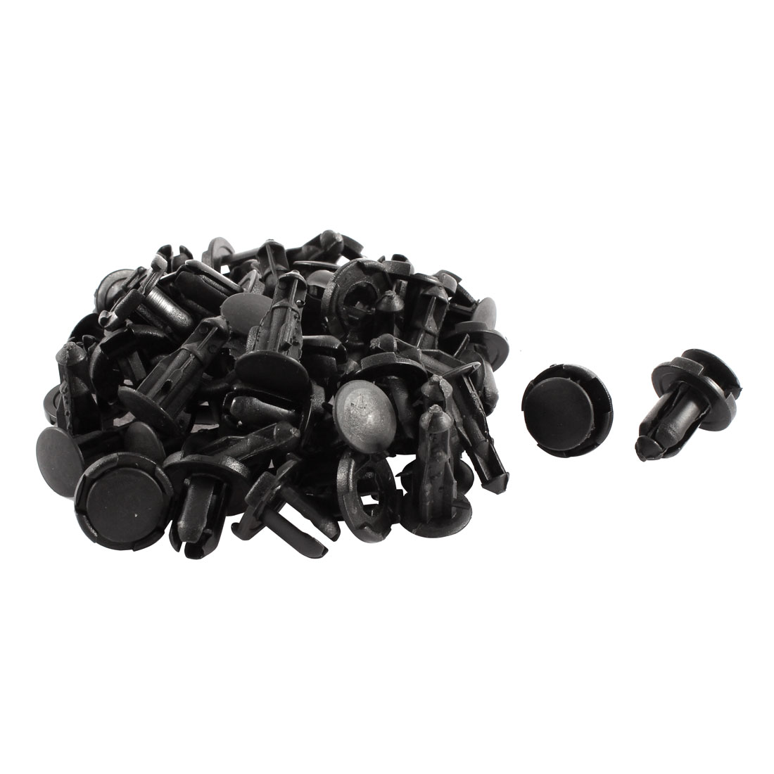 30 Pcs Black 9mm Hole Plastic Car Bumper Fender Push Type Rivets Clips for Honda