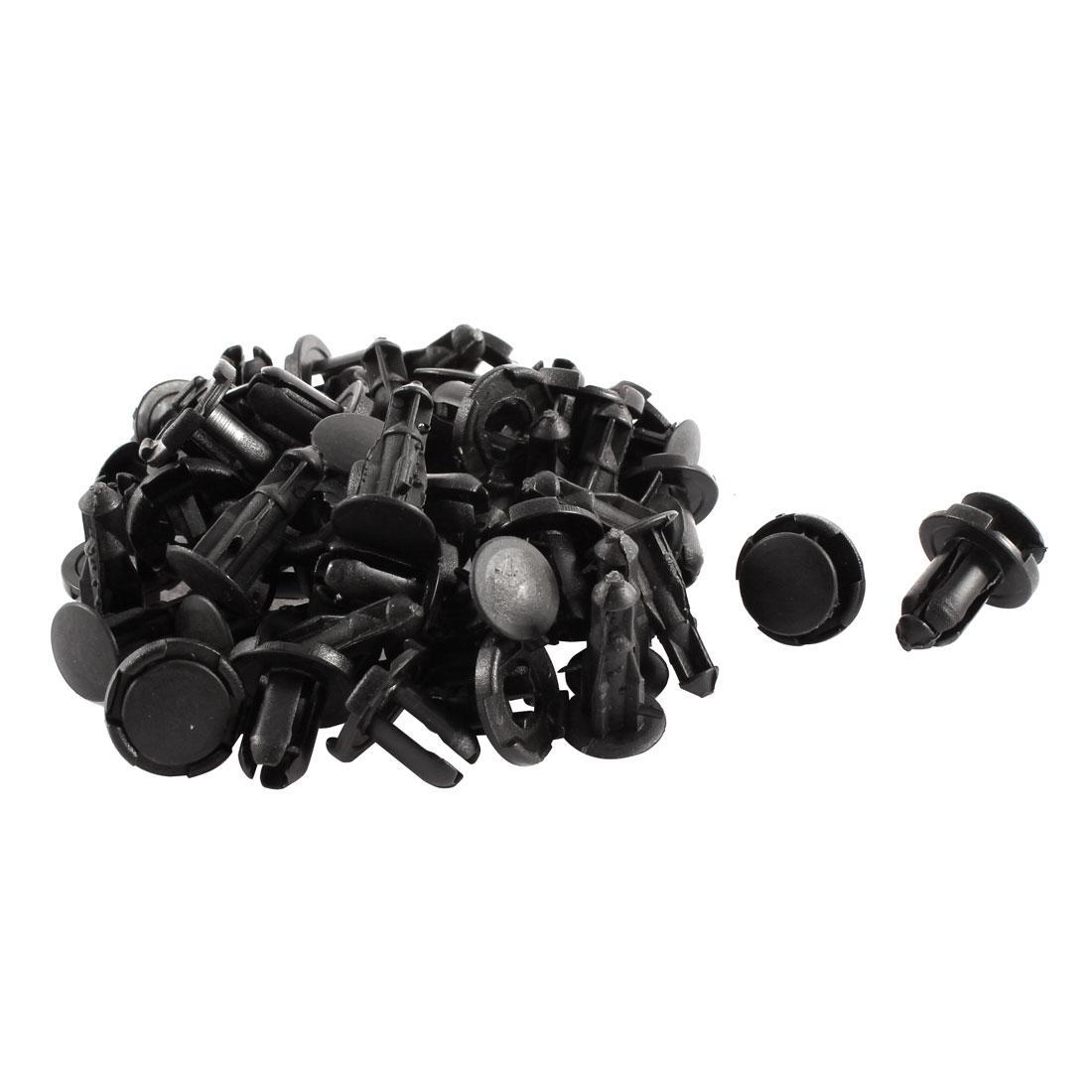 30 Pcs Black 9mm Hole Plastic Car Bumper Fender Push Type Rivets Clips for Honda