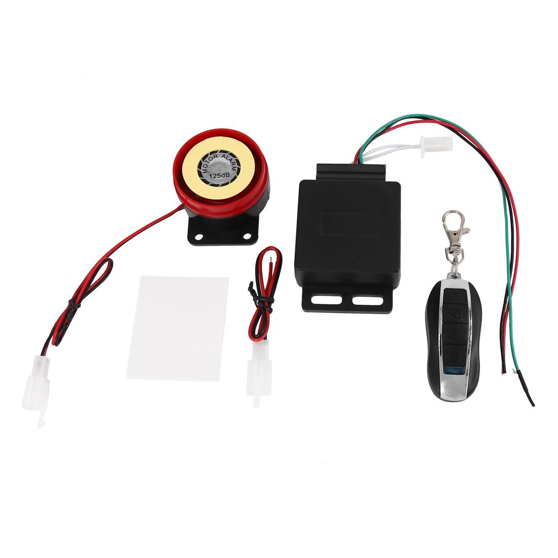 12V Motorbike Anti-theft Safety Alarm System Immobiliser w Remote Engine Start