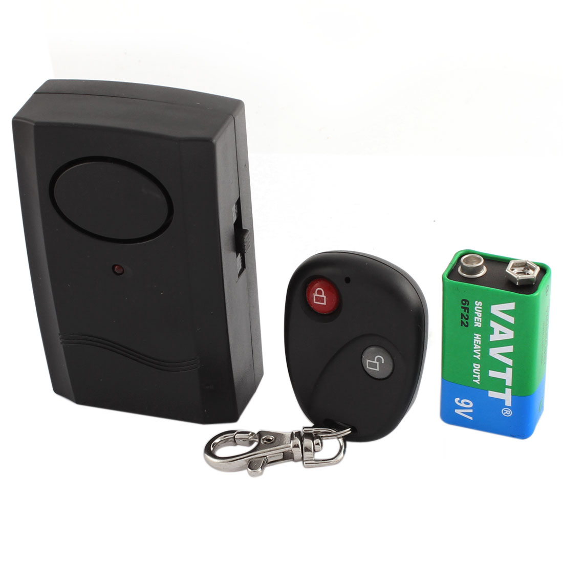 Motorbike Scooter Wireless Remote Control Anti-theft Security Alarm w 9V Battery
