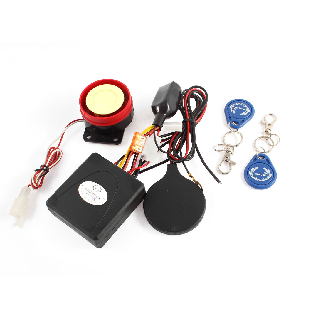 Motorcycle Anti-theft ID Card Induction Lock Safety Security Alarm System Set
