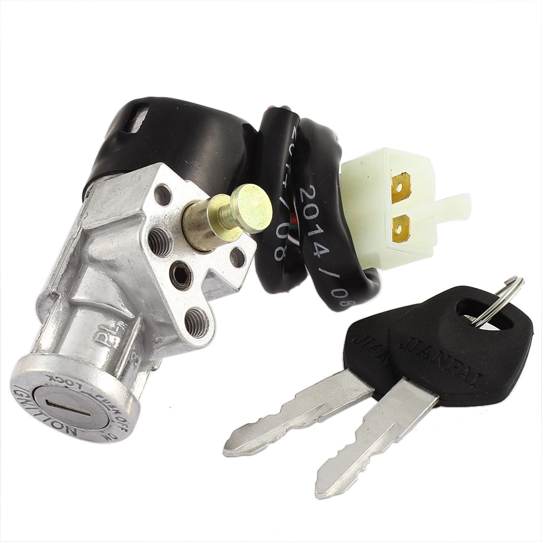 Motorcycle Electric Bike Scooter Four Wires Ignition Switch Lock w Keys for DY100