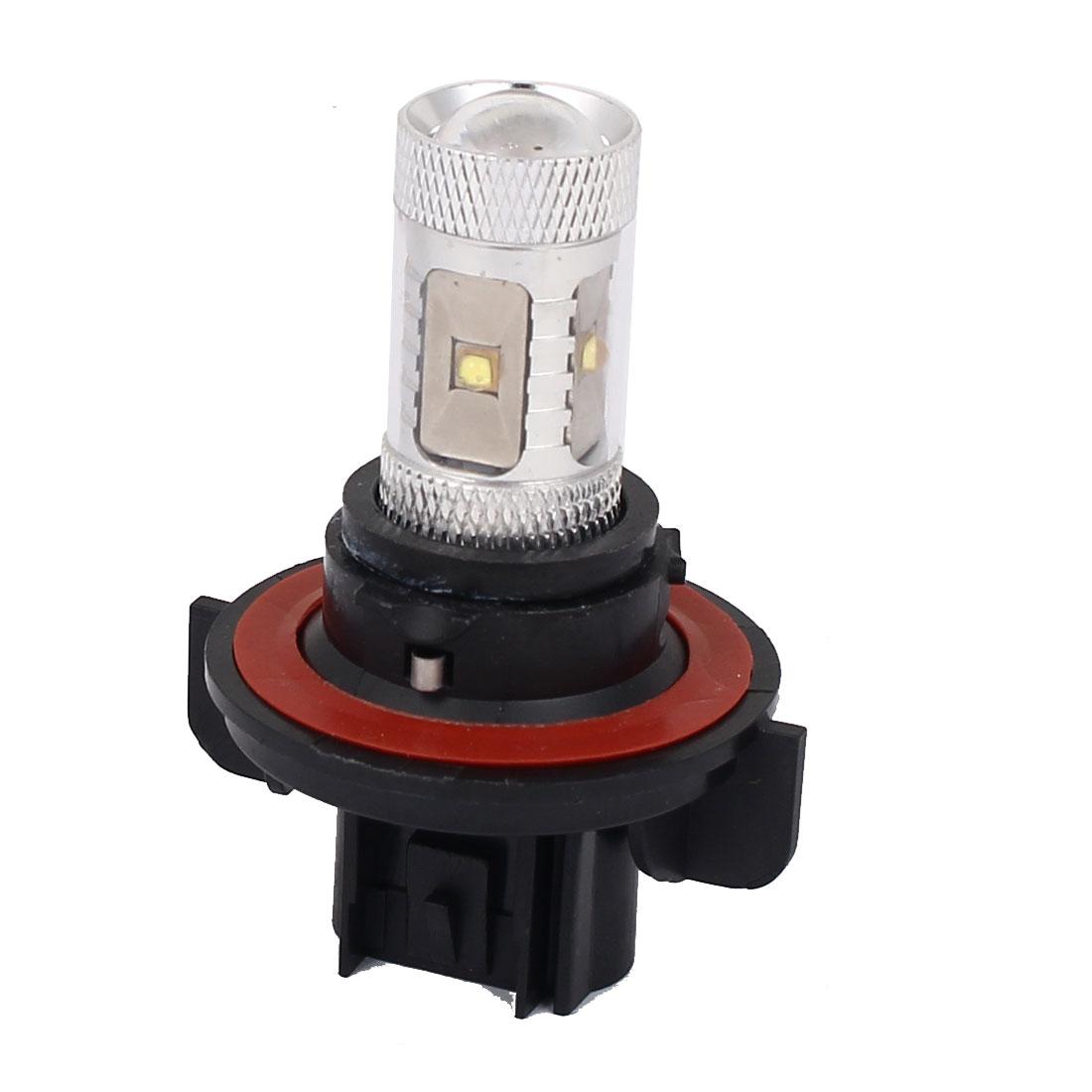 Car Auto H13 White 6 LED Projector Headlight Fog Light Lamp Bulb DC 12V 30W