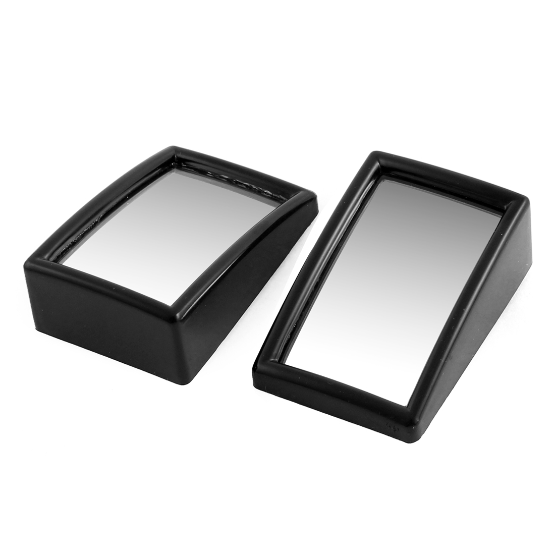 Pair Black Casing Wide Angle Convex Rearview Blind Spot Mirror for Car Vehicle