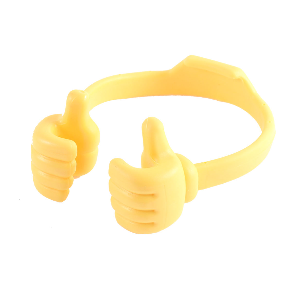 Yellow Plastic Cute Thumb Style Mobile Phone Desktop Support Bracket Holder