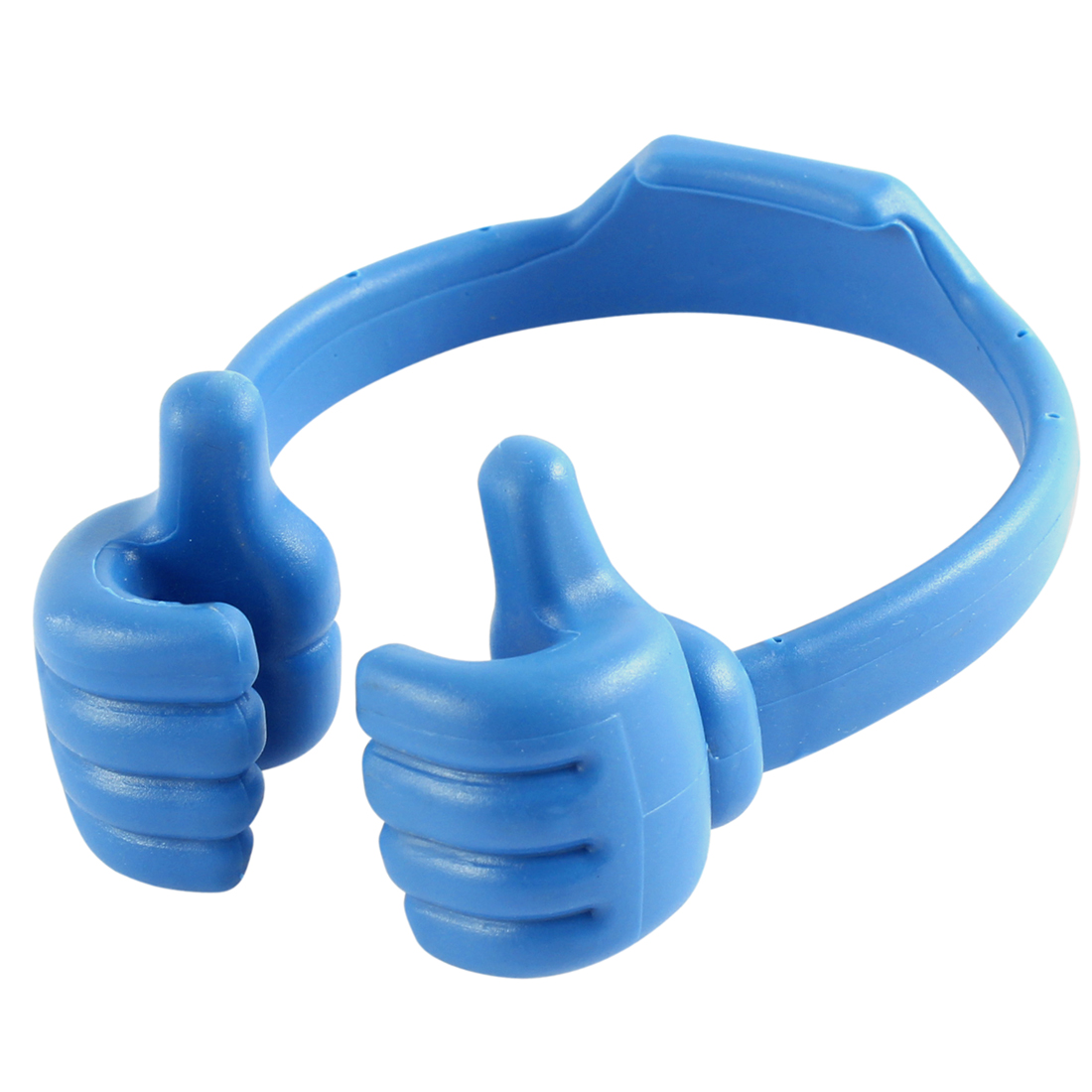 Adjustable Blue Plastic Thumb Shaped Stand Holder for Cell Phone Mp3 MP4 Tablet