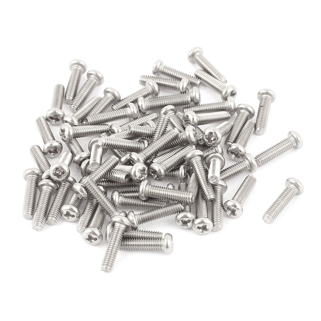 M2.5 x 10mm 304 Stainless Steel Crosshead Phillips Round Head Screws Bolt 60pcs