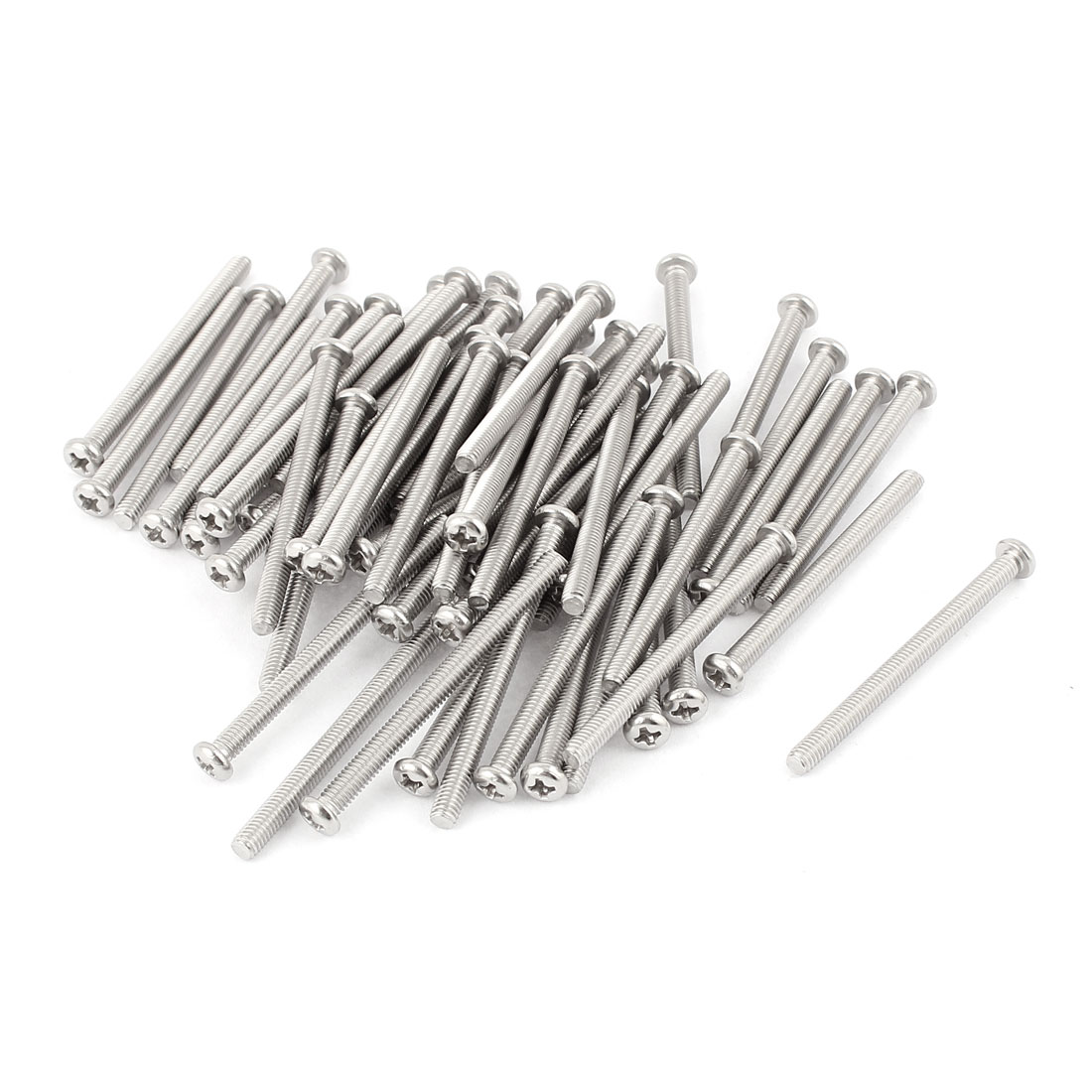 M4 x 50mm 304 Stainless Steel Crosshead Phillips Round Head Screws Bolt 60pcs