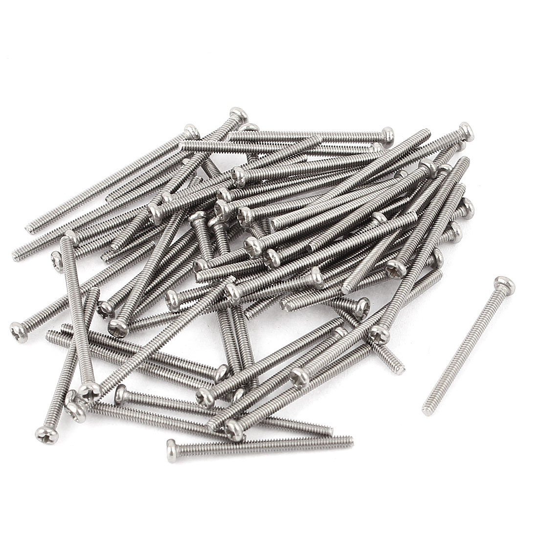 M2 x 30mm 304 Stainless Steel Crosshead Phillips Round Head Screws Bolt 30pcs