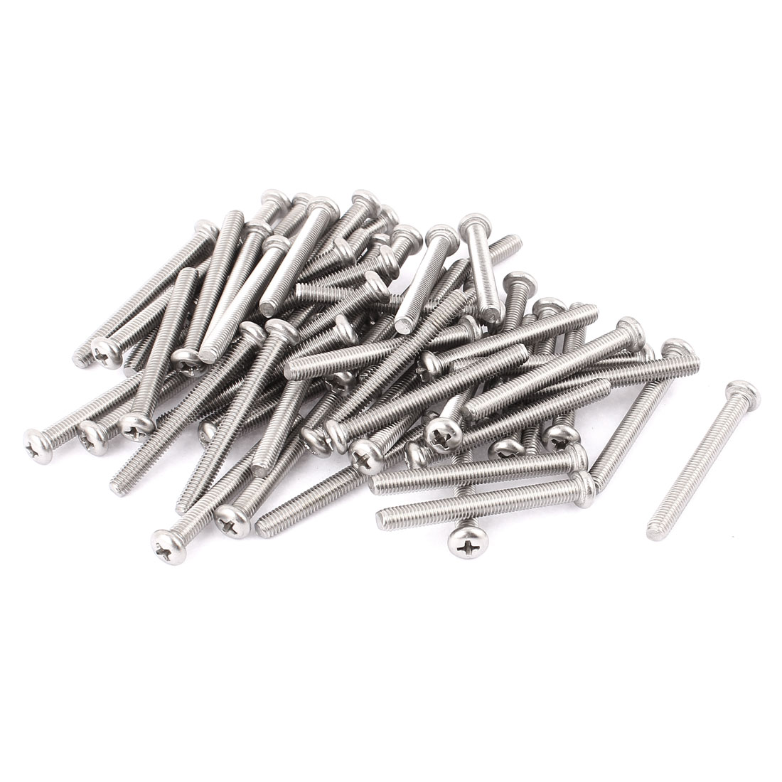 M5 x 45mm 304 Stainless Steel Crosshead Phillips Pan Head Screws Bolt 60pcs