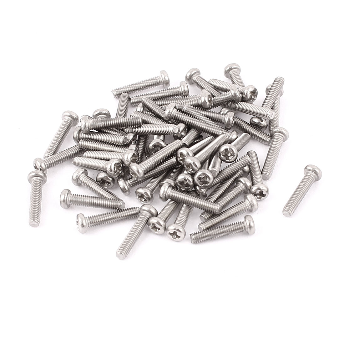 M2.5 x 12mm 304 Stainless Steel Crosshead Phillips Pan Head Screws Bolt 60pcs