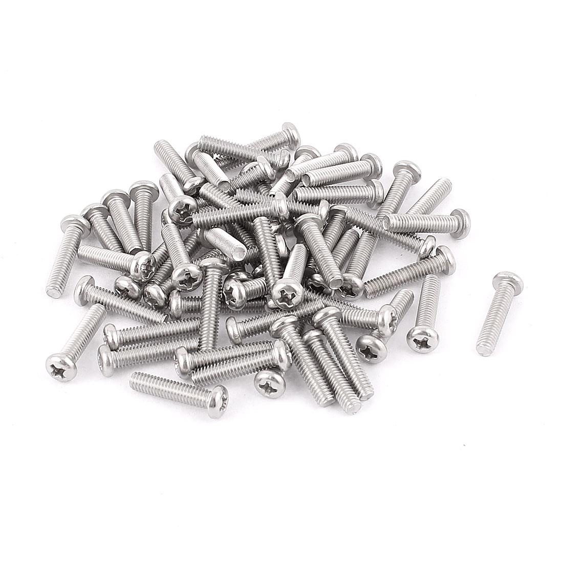 M4 x 18mm 304 Stainless Steel Crosshead Phillips Round Head Screws Bolts 60pcs
