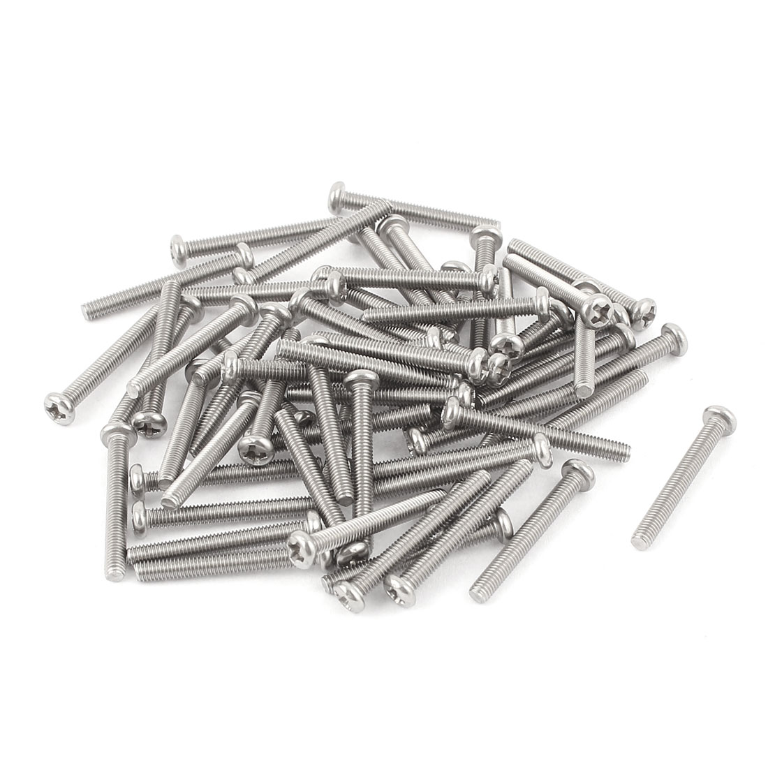 M3 x 25mm 304 Stainless Steel Crosshead Phillips Pan Head Screws Bolt 60pcs