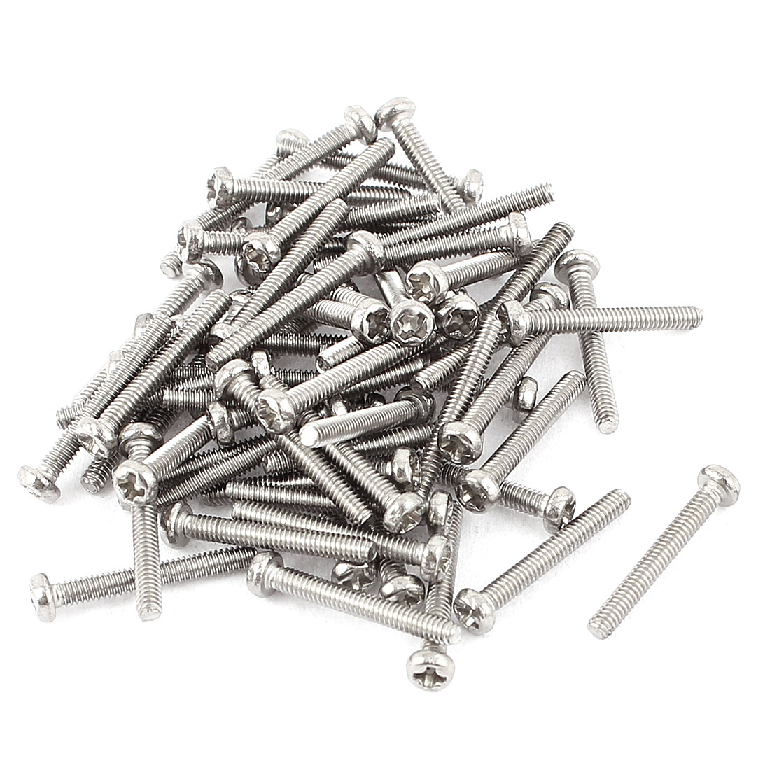 M2 x 14mm 304 Stainless Steel Crosshead Phillips Pan Head Screws Bolt 60pcs