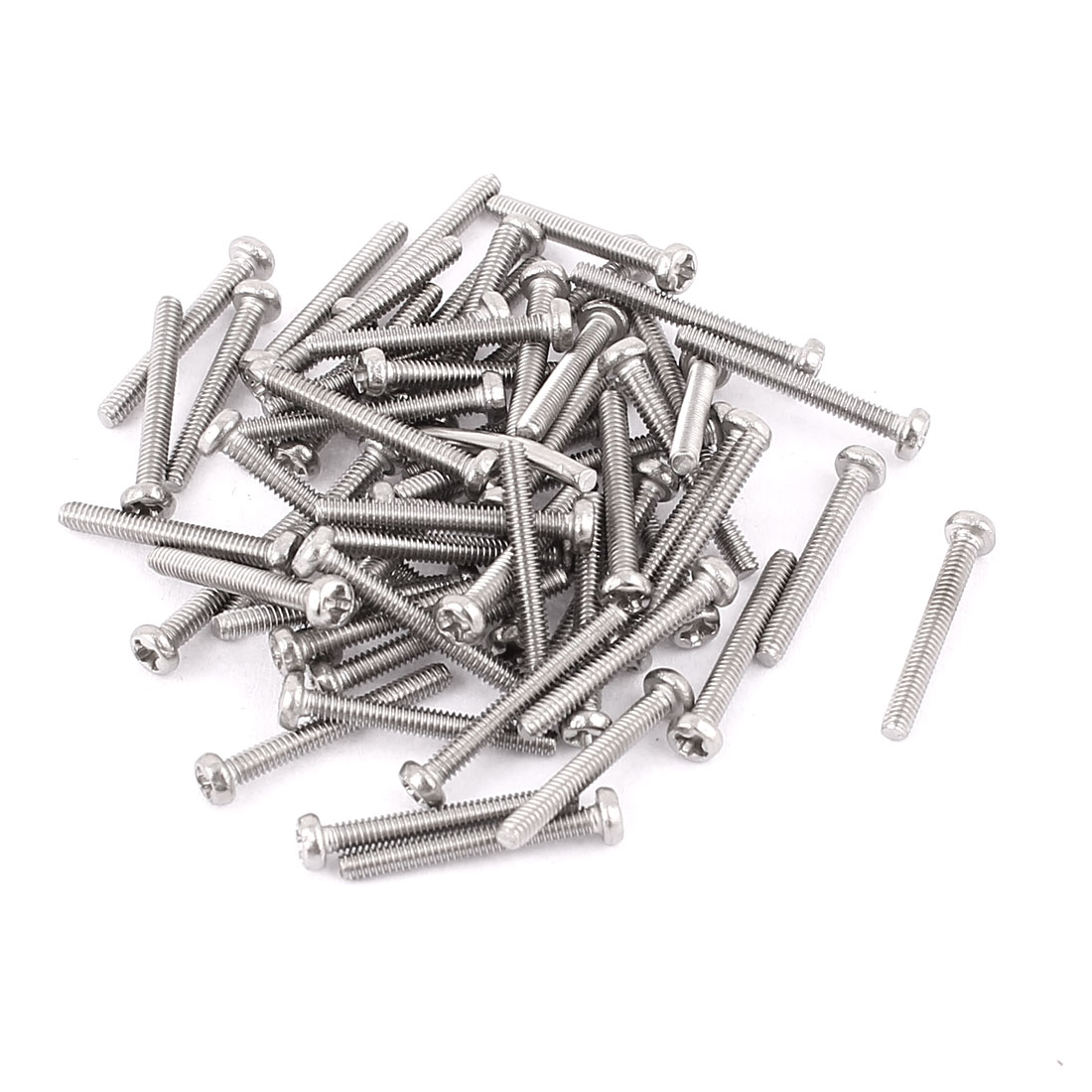 M2 x 15mm 304 Stainless Steel Crosshead Phillips Round Head Screws Bolt 60pcs