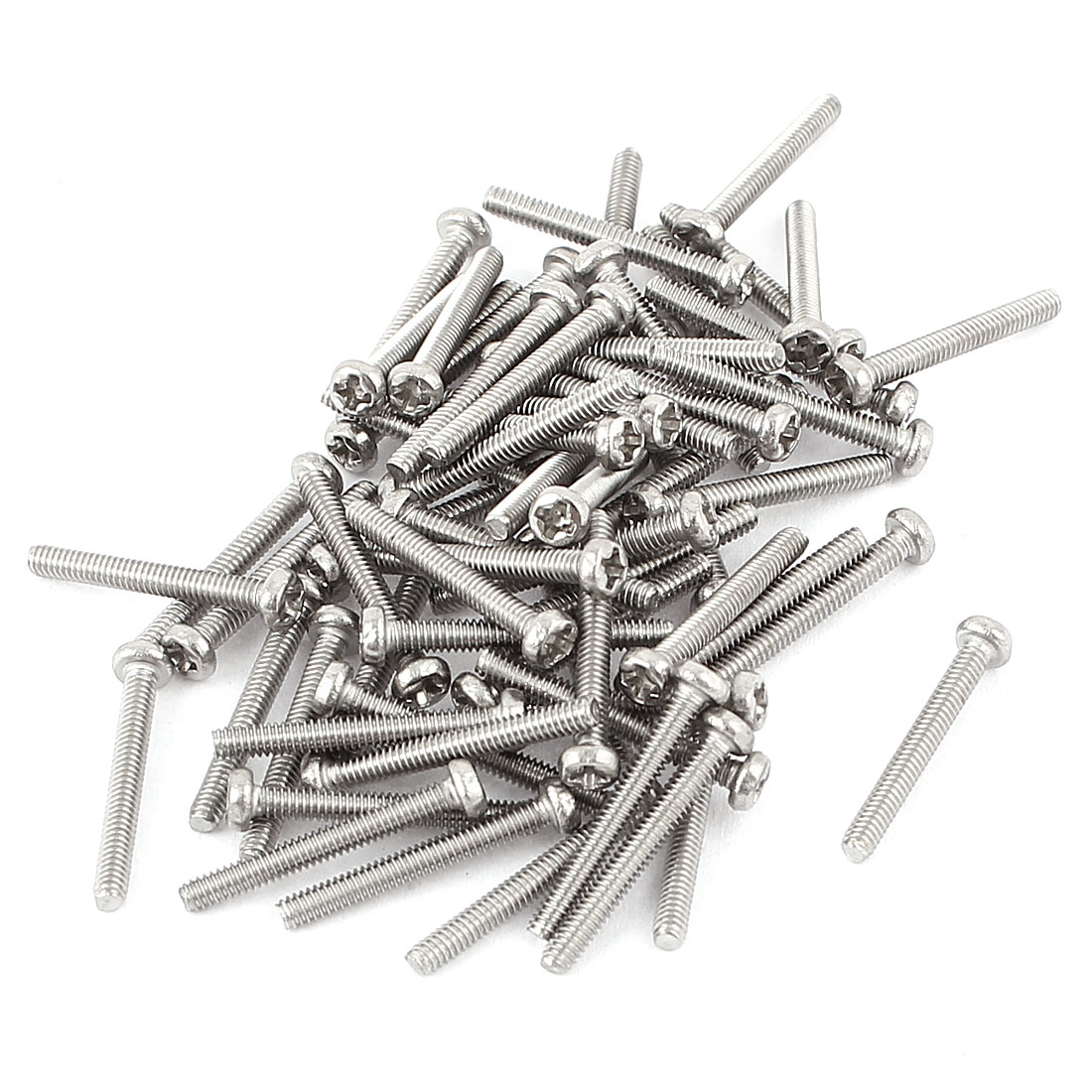 M2 x 16mm 304 Stainless Steel Crosshead Phillips Round Head Screws Bolt 60pcs