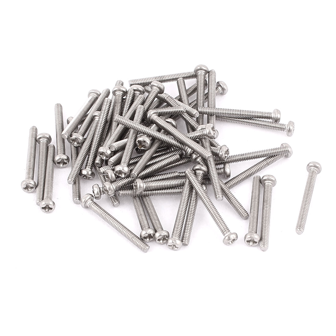 M2 x 18mm 304 Stainless Steel Crosshead Phillips Round Head Screws Bolt 60pcs