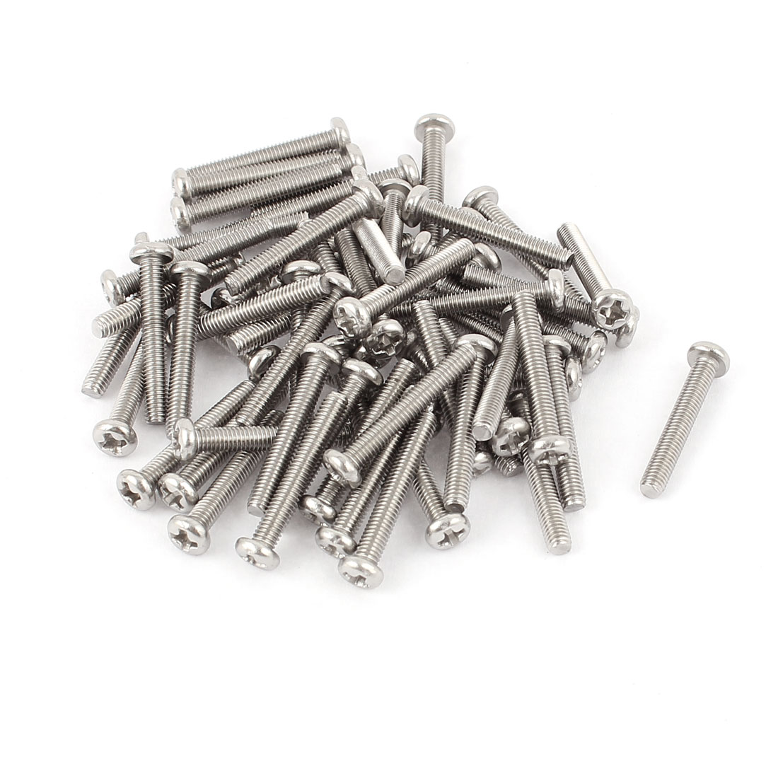 M3 x 20mm 304 Stainless Steel Crosshead Phillips Pan Head Screws Bolt 60pcs