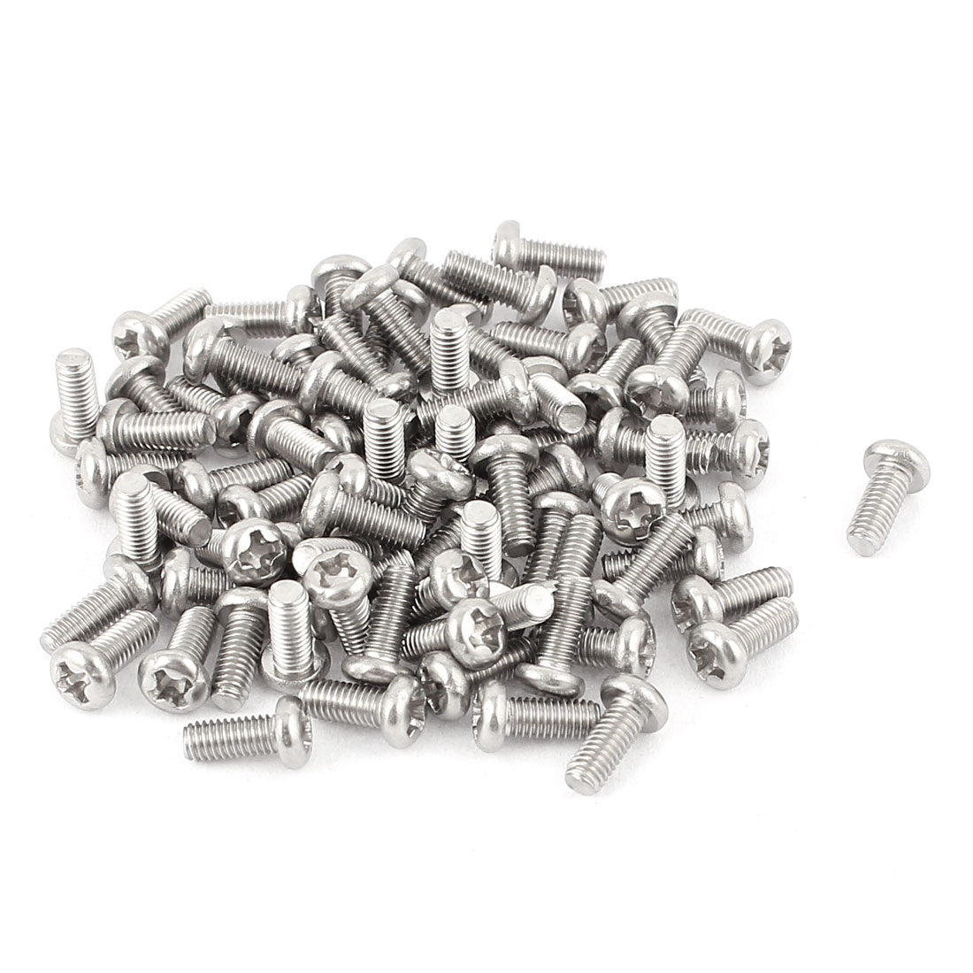 M3 x 7mm 304 Stainless Steel Crosshead Phillips Pan Head Screws Bolts 60pcs