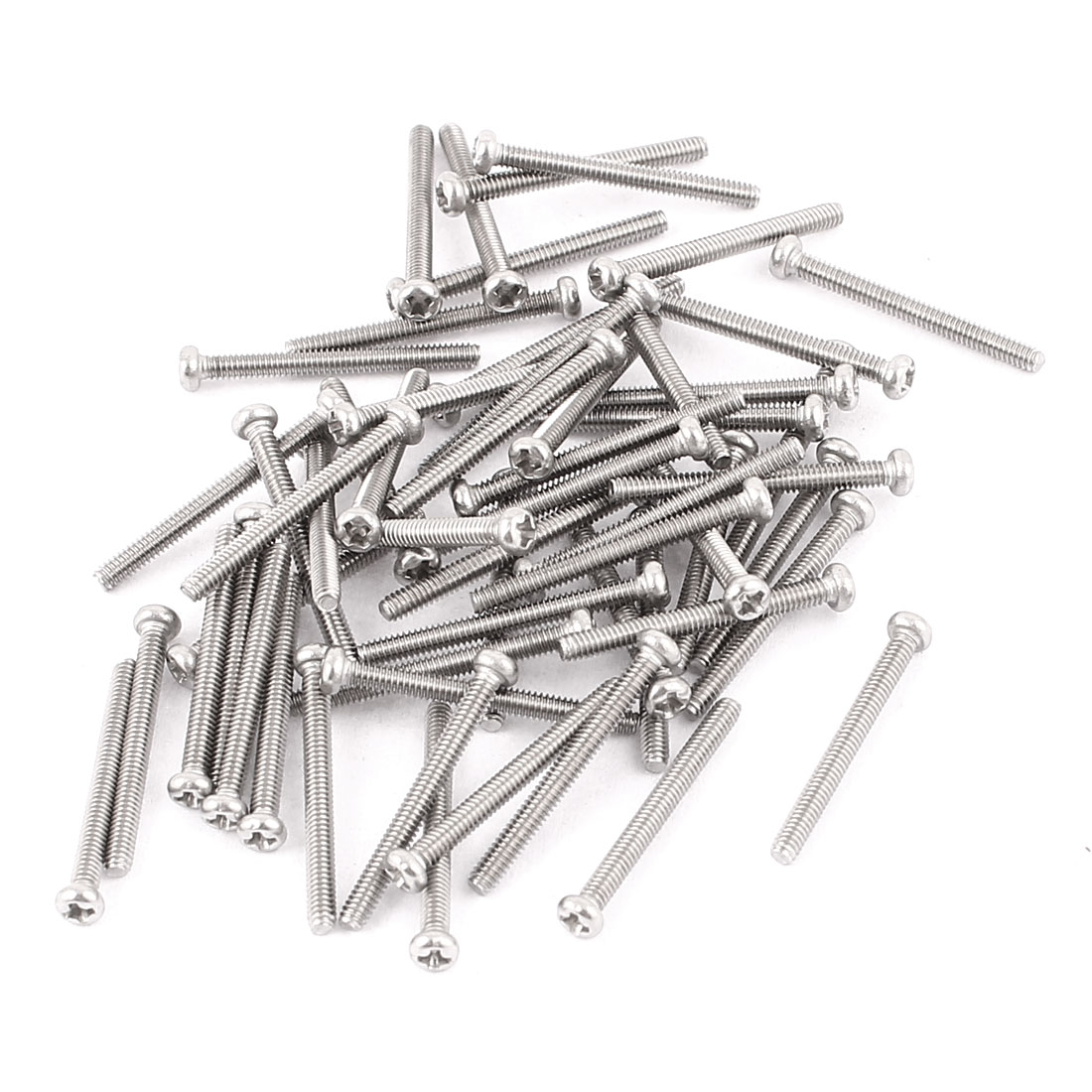 M2 x 20mm 304 Stainless Steel Crosshead Phillips Round Head Screws Bolt 60pcs