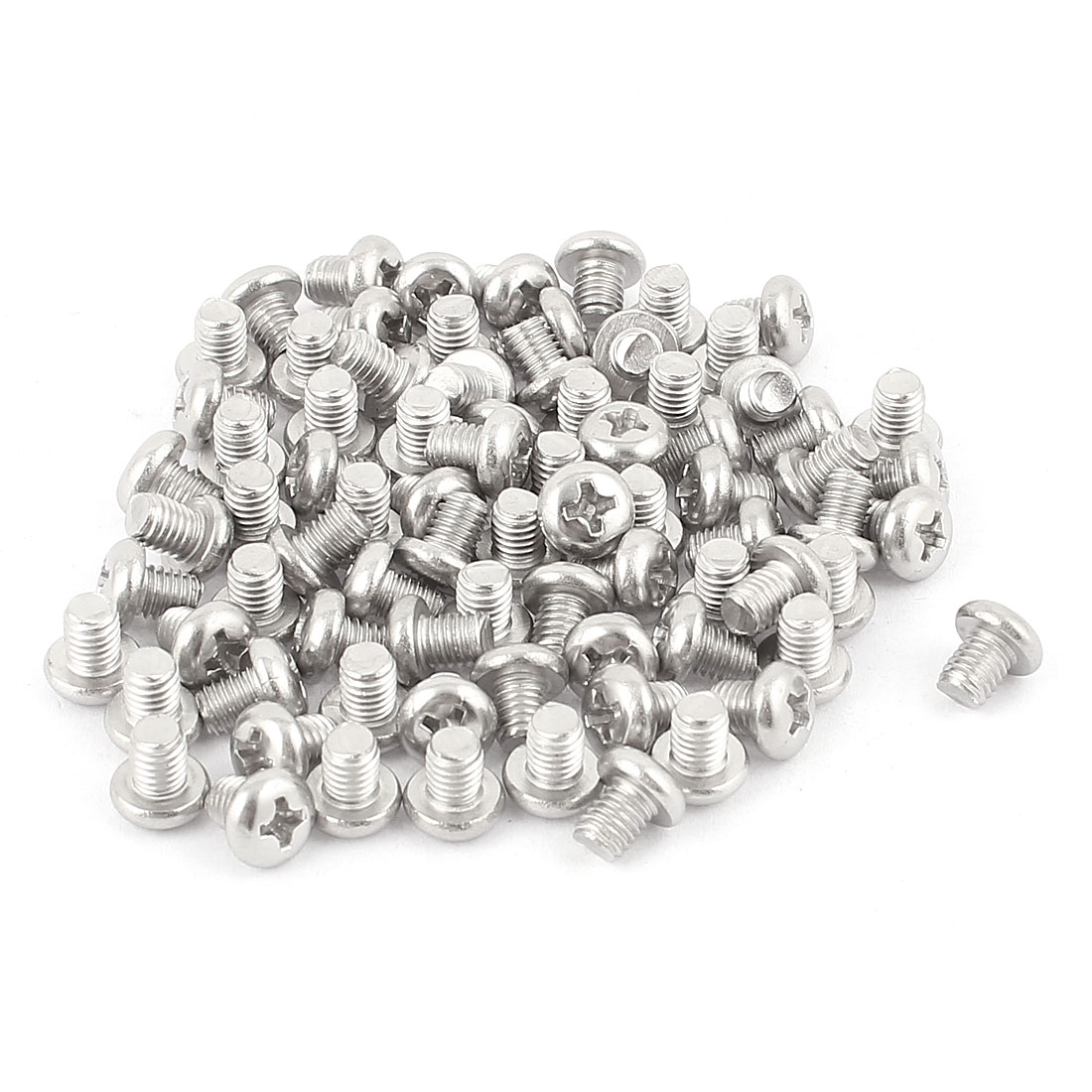 M5 x 6mm 304 Stainless Steel Crosshead Phillips Round Head Screws Bolt 60pcs