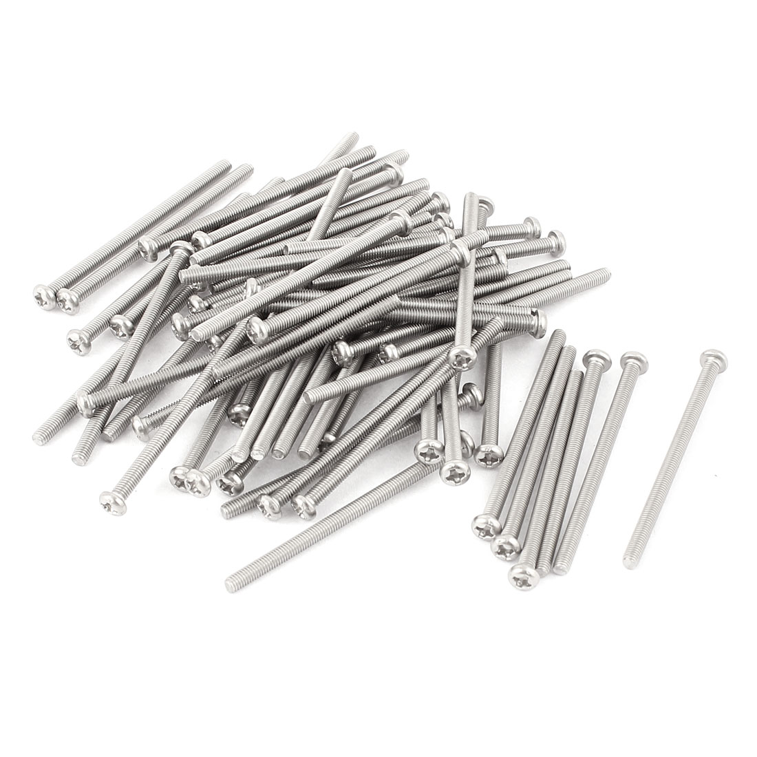 M3 x 50mm 304 Stainless Steel Crosshead Phillips Pan Head Screws Bolt 60pcs