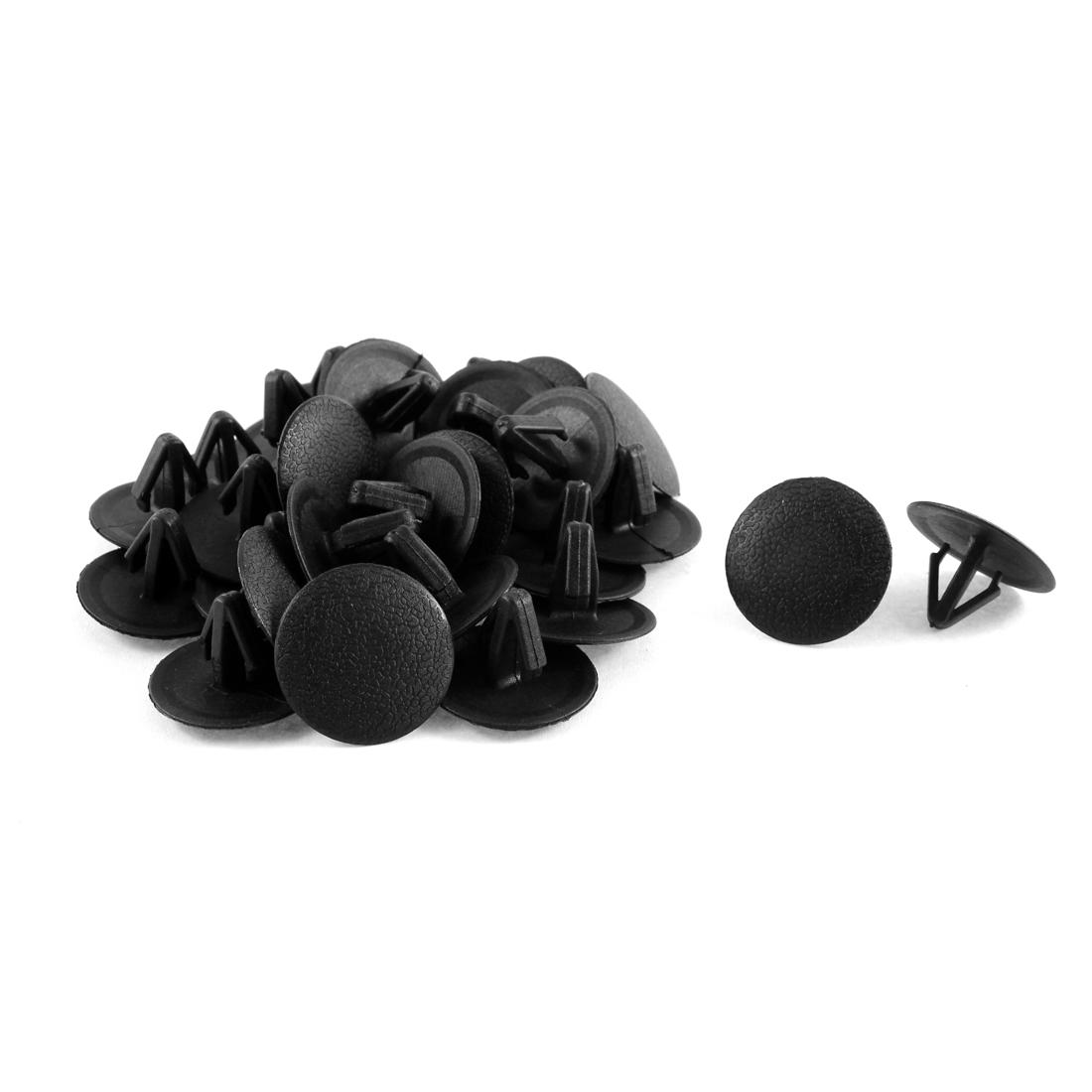 30 Pcs Black Plastic Splash Guard Fastener Rivet Clips 11mm x 13mm x 25mm