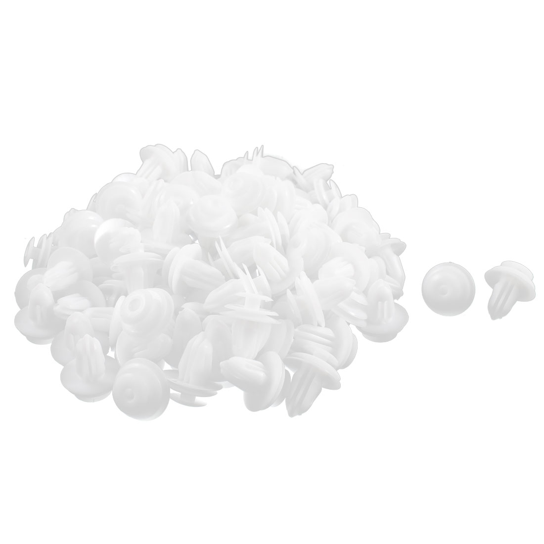 100 Pcs White Plastic Splash Carpet Moulding Mat Clips 8mm x 14mm x 18mm