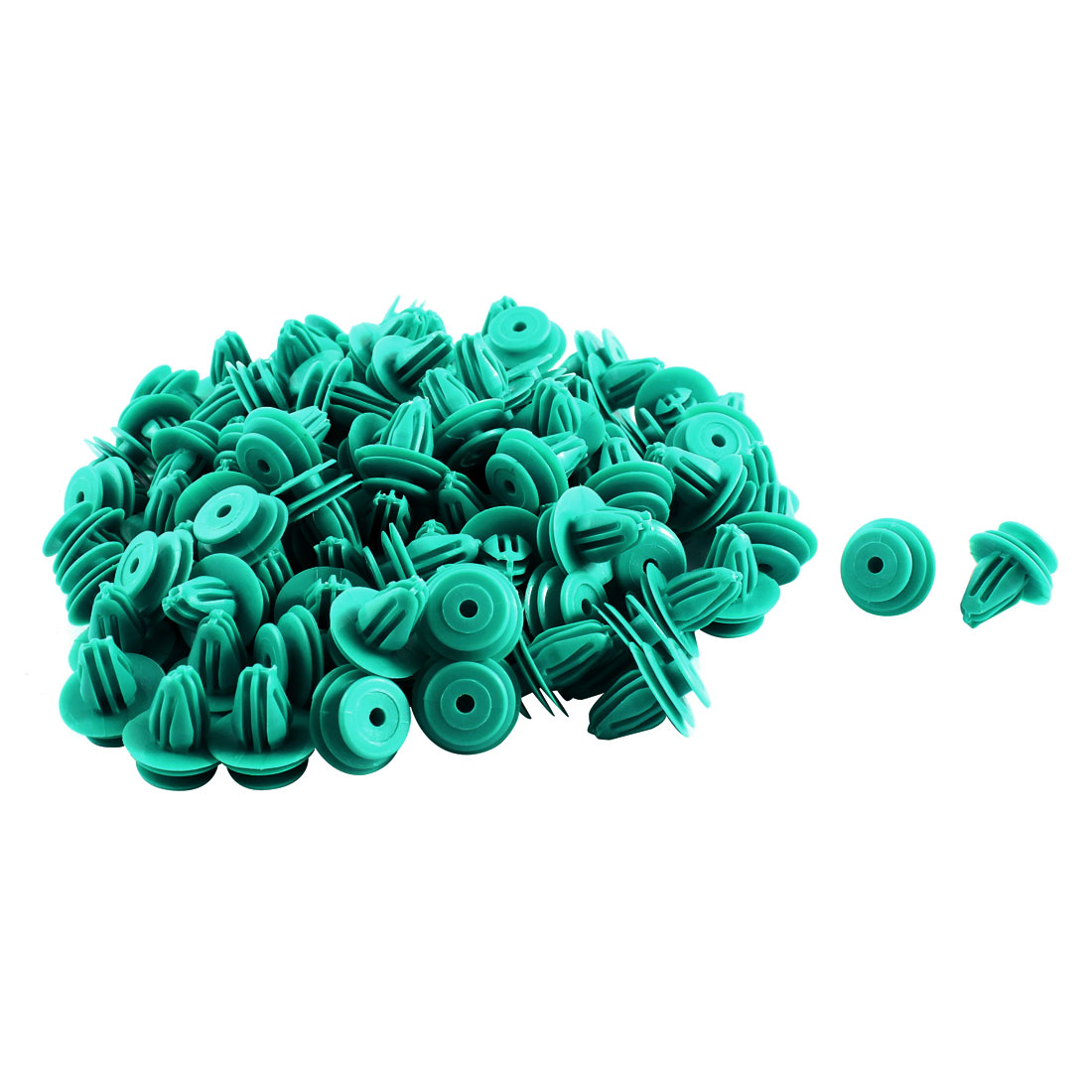 100 Pcs Blue Plastic Splash Guard Fastener Rivet Clips 9mm x 13mm x 17mm