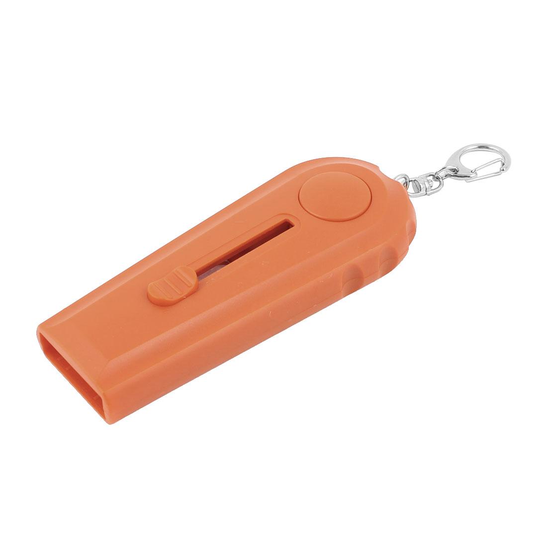 Mini Orange Plastic Handle Keyring Beer Wine Bottle Opener