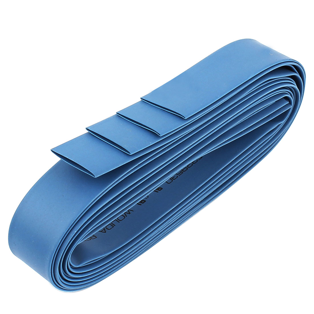 14mm Dia 1M 3.3Ft Long 2:1 Heat Shrink Tubing Wire Wrap Sleeve 4pcs Blue