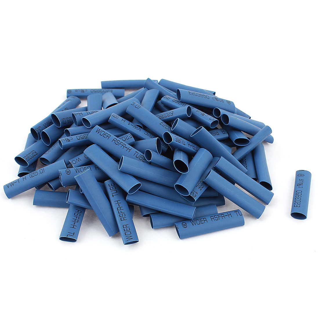 100pcs 5mm Dia Heat Shrink Tubing Tube Electric Wire Wrap Sleeve 30mm Blue