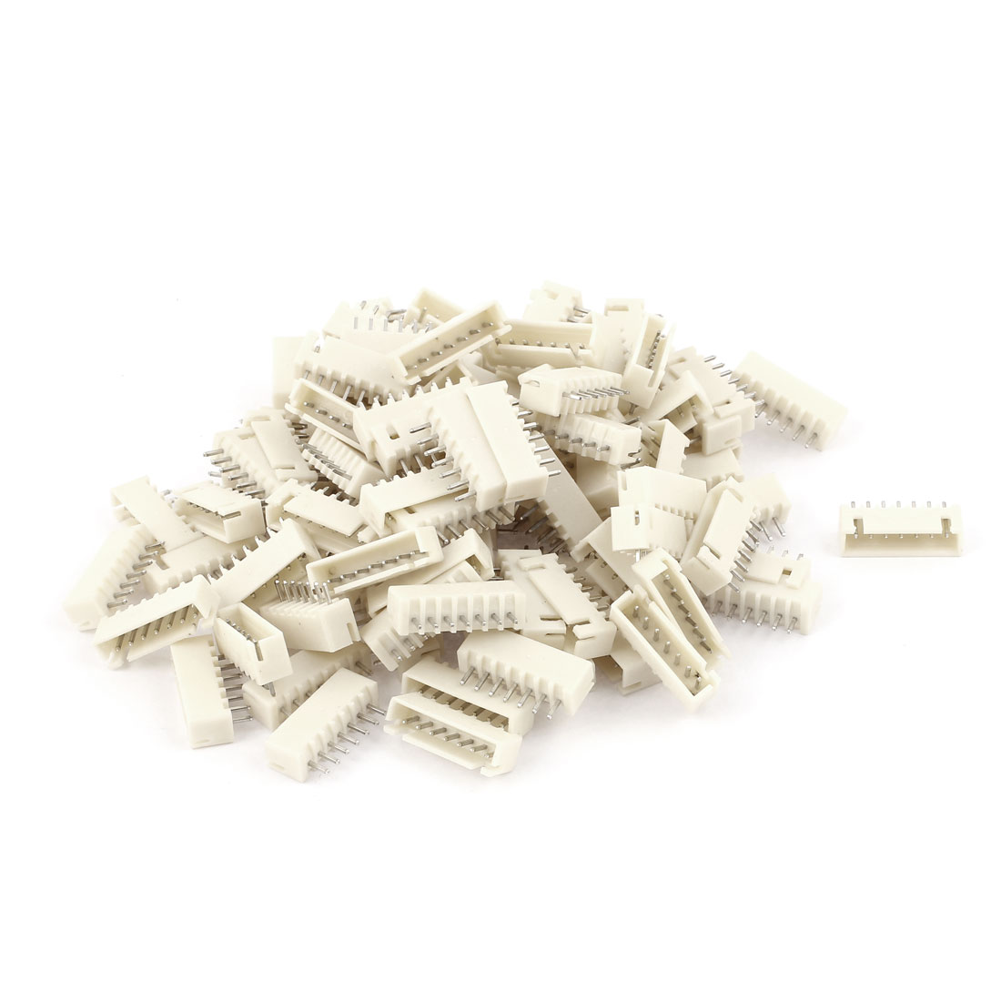 100pcs 2.54mm Pitch Male 7 Pins RC Lipo Battery Balance JST XH Header Connector