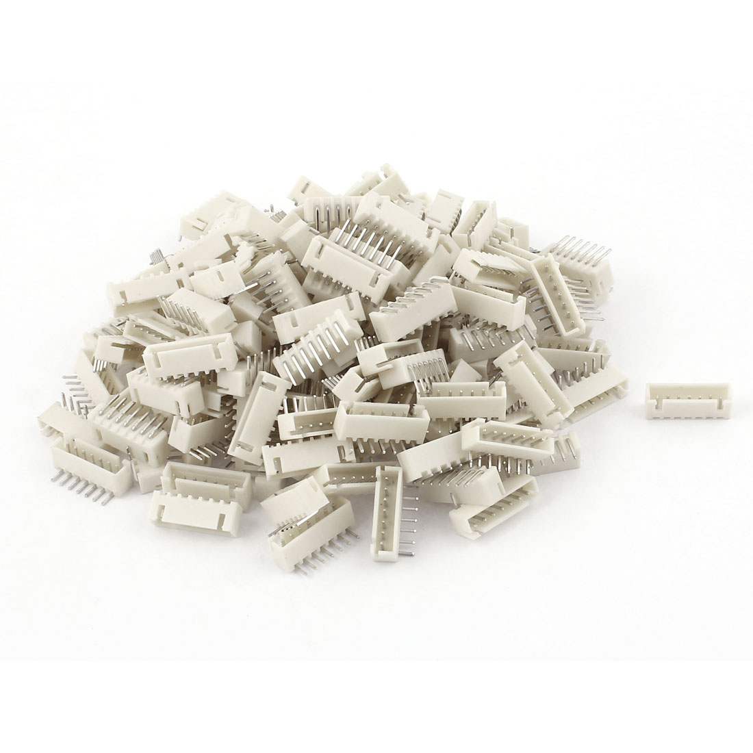 160pcs 2.54mm Pitch Right Angle 7 Pins JST Header Socket Male Connector