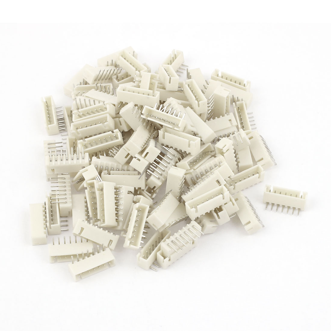 100pcs 2.54mm Pitch Right Angle 7 Pins JST Header Socket Male Connector