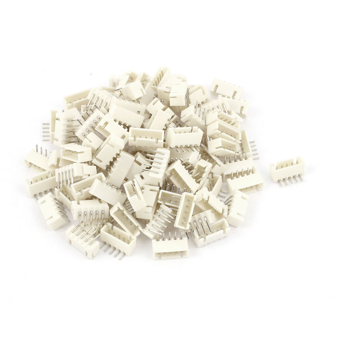 100pcs 2.54mm Pitch Right Angle 5 Pins XH Header Socket Male JST Connector