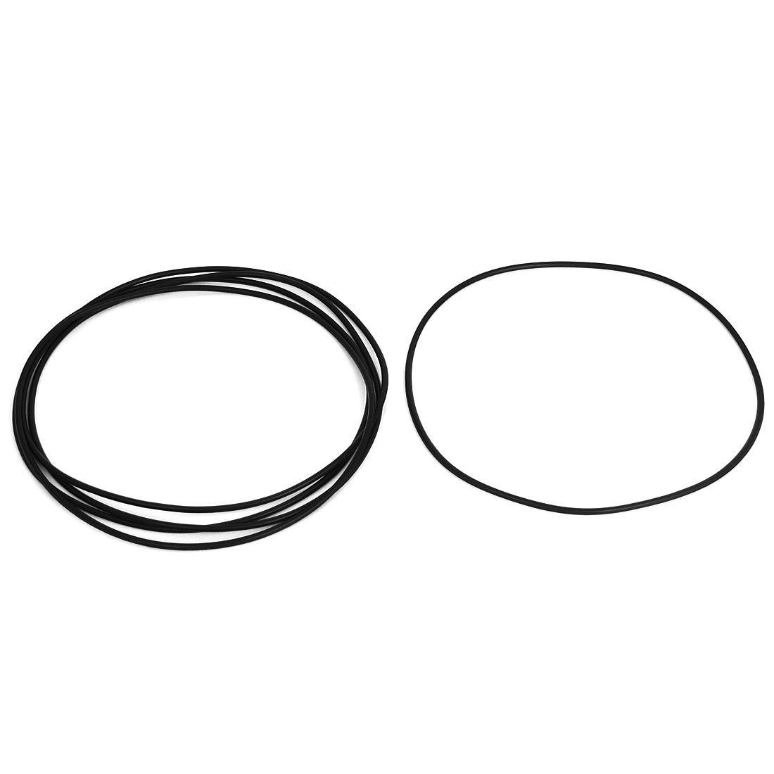 5pcs 132mm OD 128mm Inner Dia 2mm Thickness Rubber O Ring Oil Seal Gaskets Black