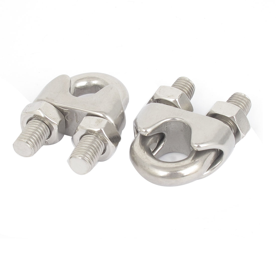 "12mm 1/2"" Stainless Steel Wire Rope Cable Clamp Clips 2pcs"