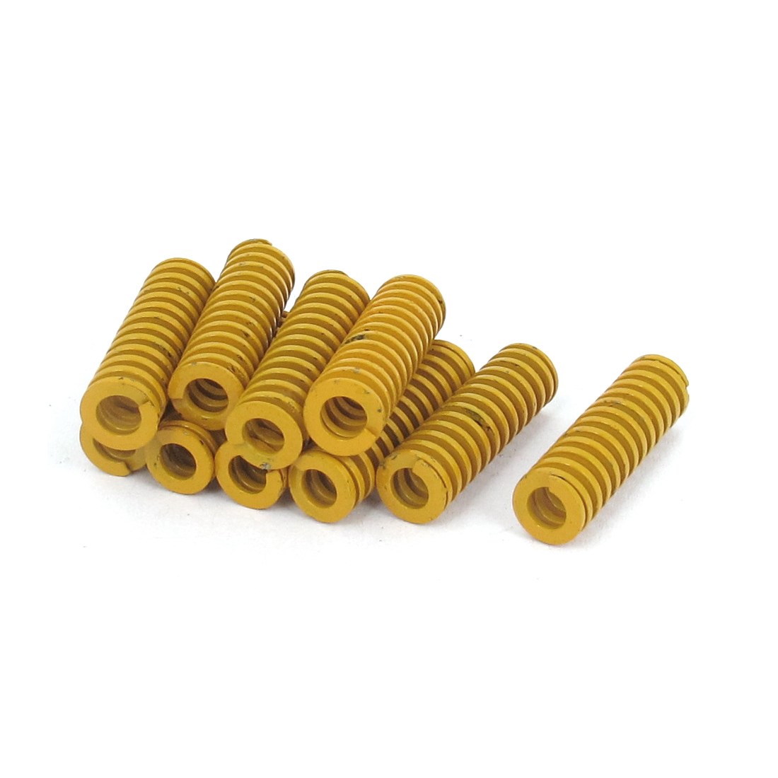 10Pcs Yellow Metal Tubular Section Lightest Load Mold Mould Die Spring 6mmx20mm