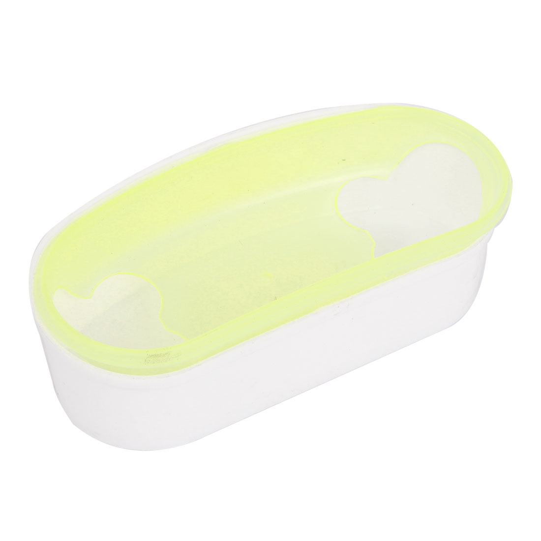 Yellow White Dual Hole Hamsters Toilet Sand Cage Pet Bathtub Bathroom