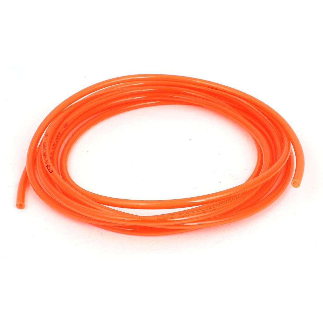 8mm OD x 5mm Inner Dia 5 Meters Long Red PU Pneumatic Air Tubing Pipe Hose