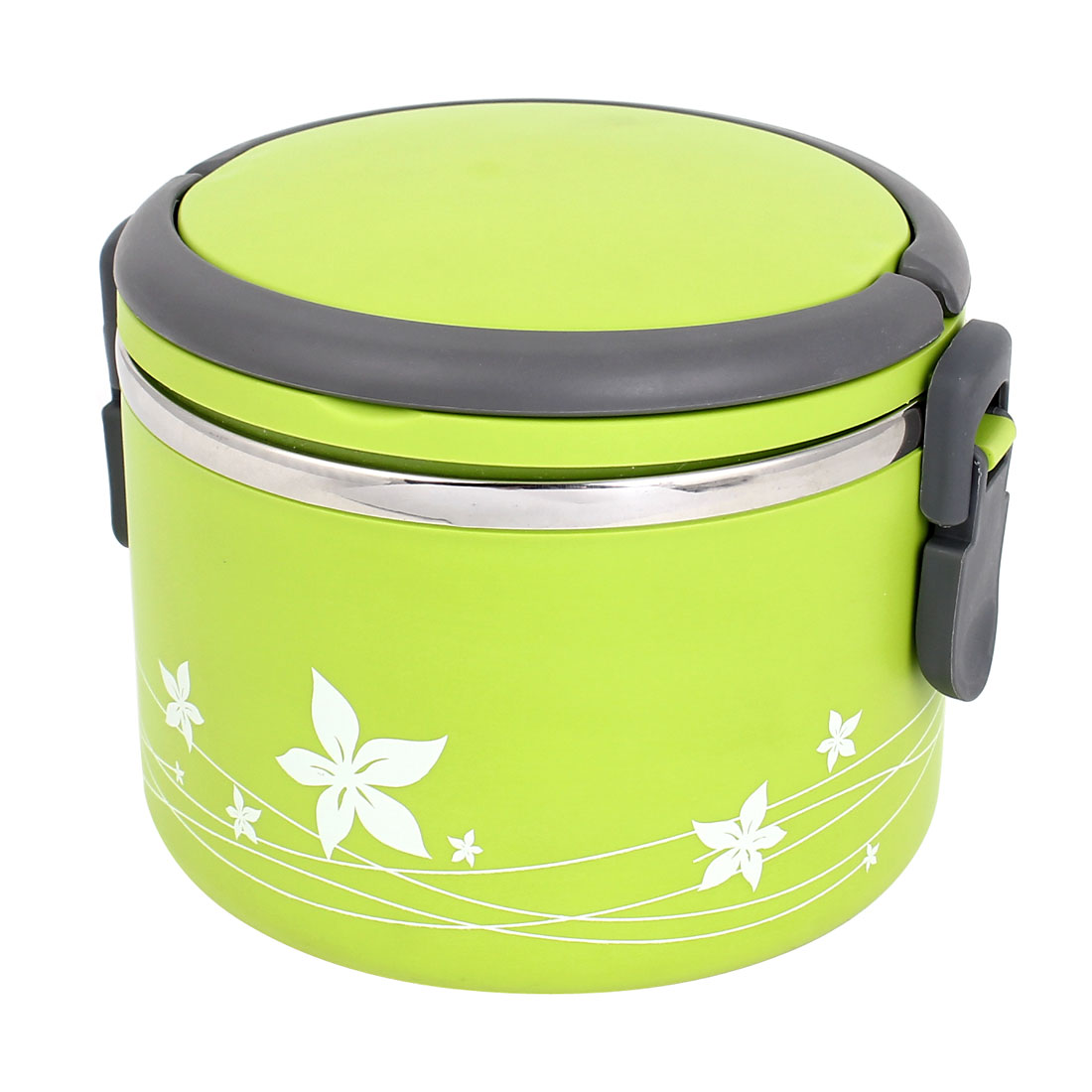 Green Cylinder Shaped Stainless Steel Inner Keep Warm Lunch Box Bento Container