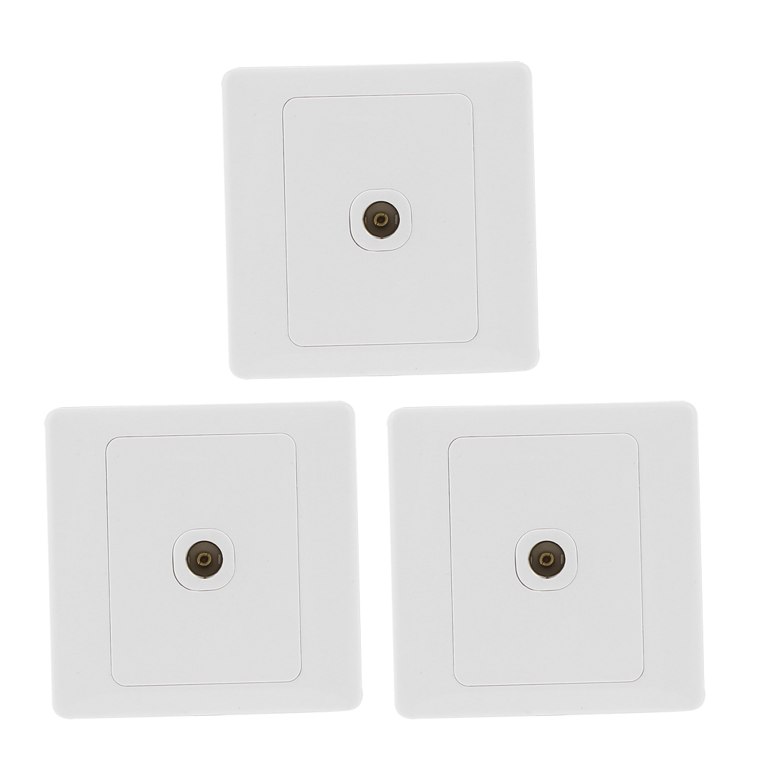 3x TV Port Socket Mounting Coaxial Outlet Wall Plate AC250V 10A