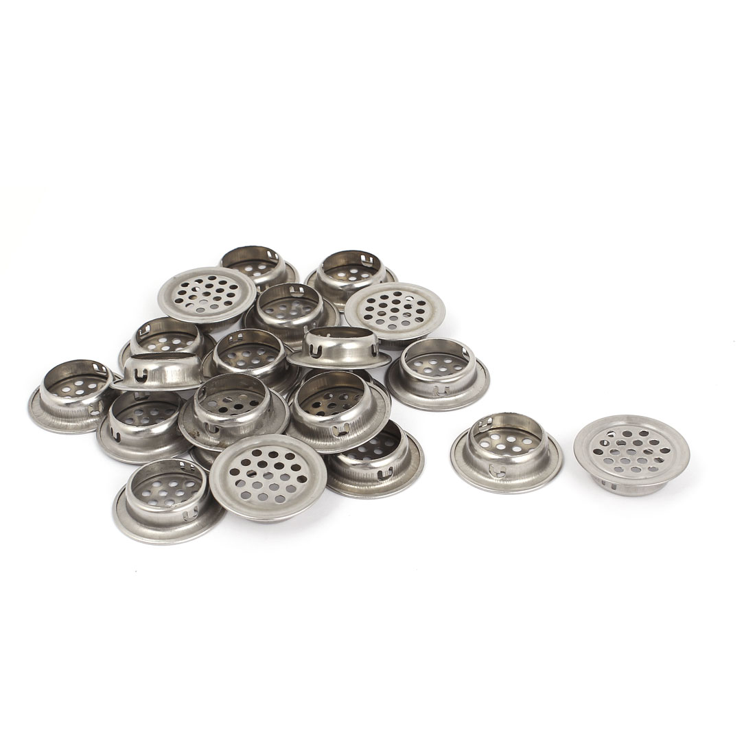 25pcs 25mm Dia Round Stainless Steel Mesh Wardrobe Cabinet Air Vent Louver Cover